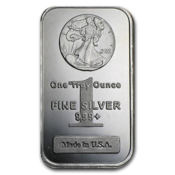 1 Oz Walking Liberty Silver Bar