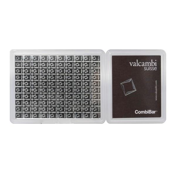 100 x 1g Valcambi Silver Cook Islands CombiBar (with COA)