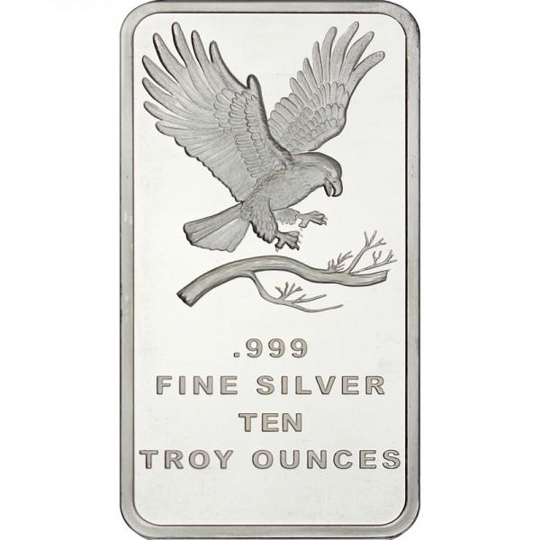 10 Oz Silvertowne Eagle Silver Bar