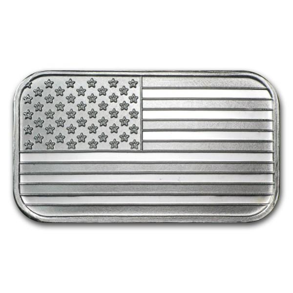 1 Oz American Flag Silver Bar