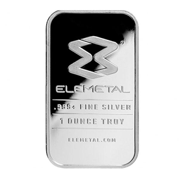 1 Oz Elemetal Silver Bar
