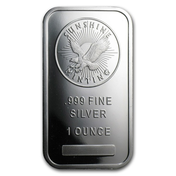1 Oz Sunshine Mint Silver Bar