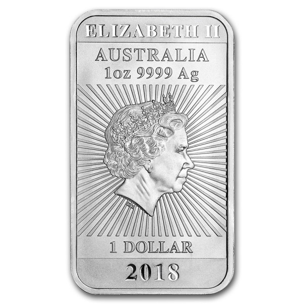 2018 1 Oz Australian Dragon Coinbar