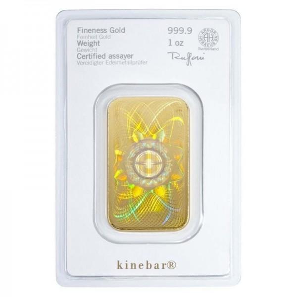 1 Oz Heraeus Gold Bar Holographic Mark