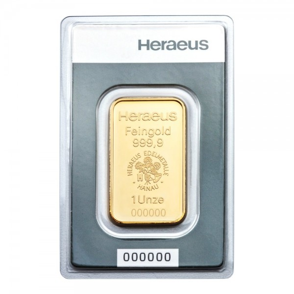1 Oz Heraeus Gold Bar