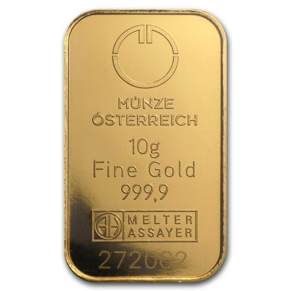 10g Austrian Mint Gold Bar