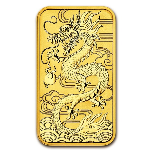1 Oz Gold Dragon Coinbar