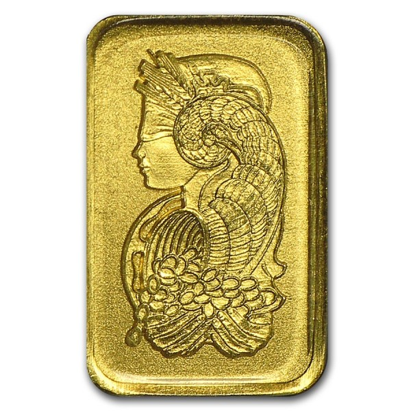 1g Mini Card Pamp Suisse Gold Bar