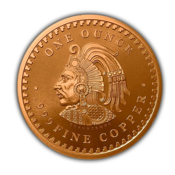 1 Oz Aztec Calendar Copper Round