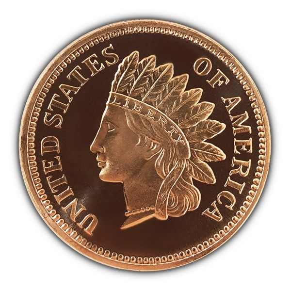 Indian Penny  1//4 oz Copper Round