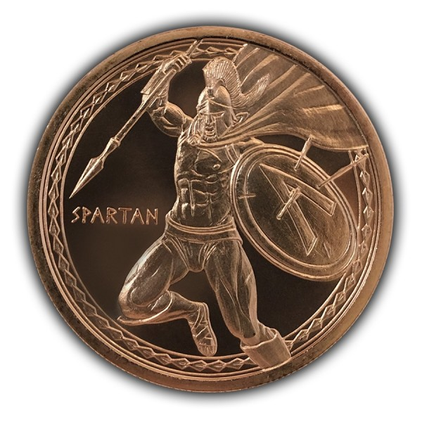 1 Oz Spartan Warrior Copper Round