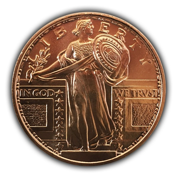 1 Oz Standing Liberty Copper Round