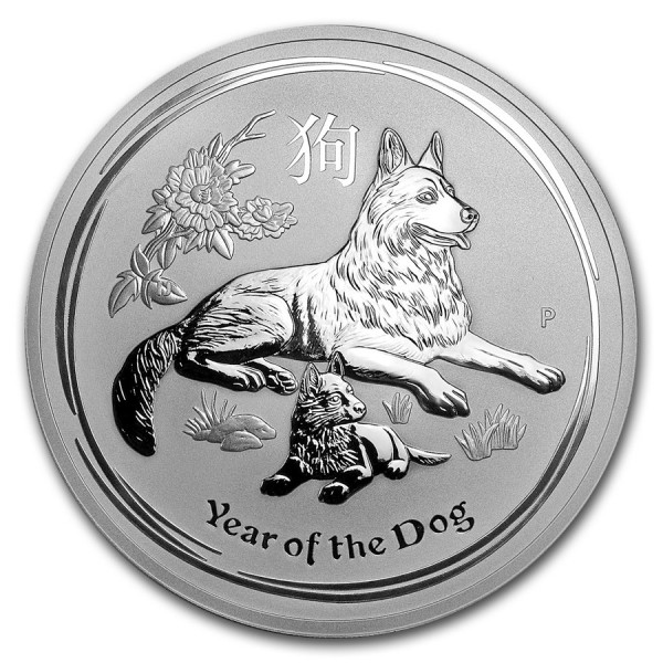 2018 10 Oz Australian Lunar Dog
