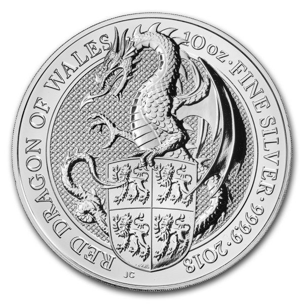 2018 10 Oz UK Queen's Beasts (The Dragon)