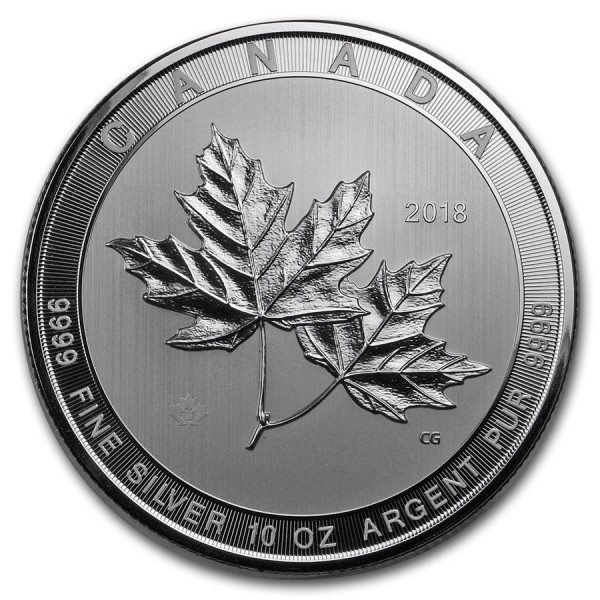 2018 10 Oz Canadian Multi-Maple Leaf