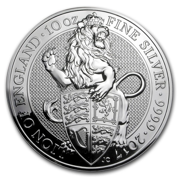 2017 10 Oz UK Queen's Beasts (The Lion)