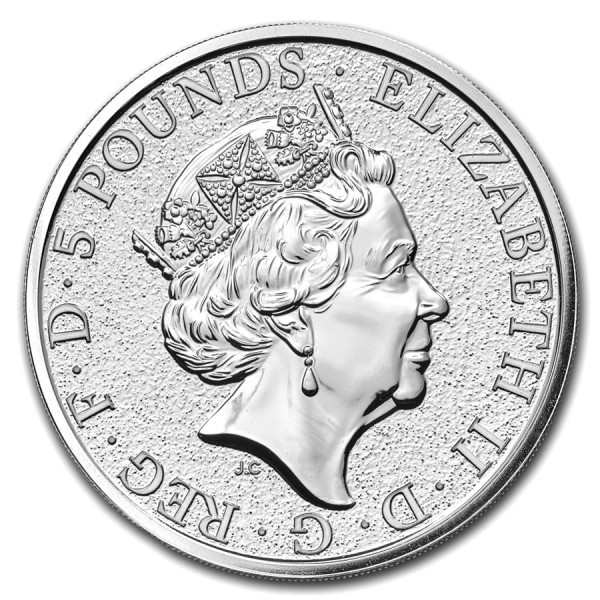 2017 2 Oz UK Silver Queen's Beasts (The Griffin)