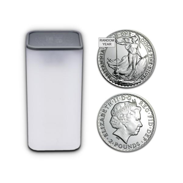 25 x 1 Oz UK Silver Britannia (Random Year)