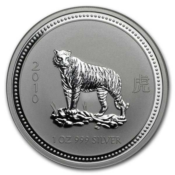 2010 1 Oz Australian Lunar Series I Tiger
