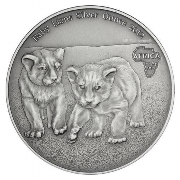 2012 1 Oz Animals of Africa (Baby Lions)