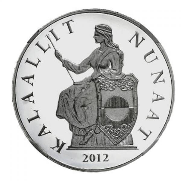 2012 1 Oz Kalaallit Nunaat Silver Grønland