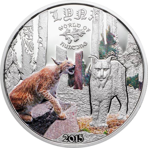 2015 1/2 Oz Cook Island World of Hunting (Lynx)