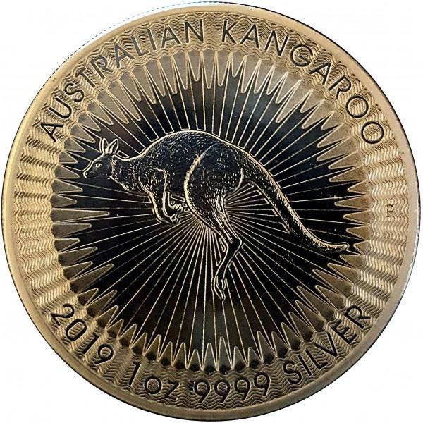 2019 1 Oz Australian Silver Gold-Plated Kangaroo
