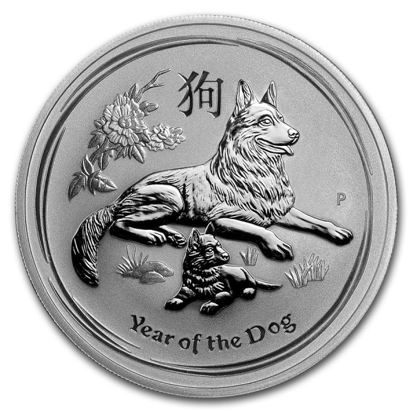 2018 1 Oz Australian Lunar Dog