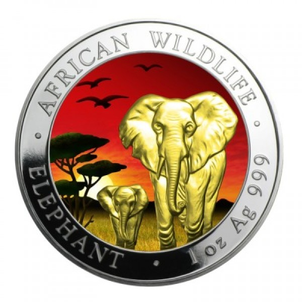 2015 1 Oz Sunset African Elephant