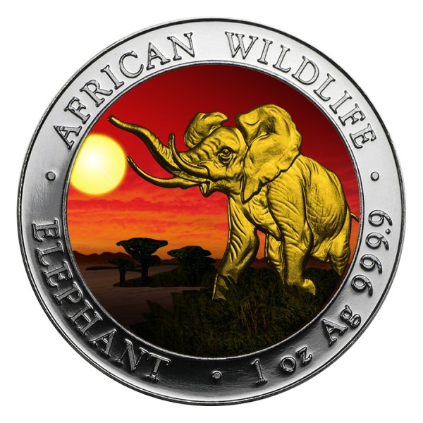 2016 1 Oz Sunset African Elephant
