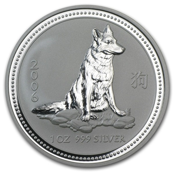 2006 1 Oz Australian Lunar Dog