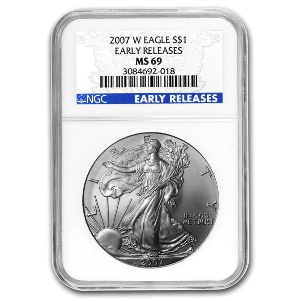 2007-W 1 Oz NGC MS69 American Silver Eagle