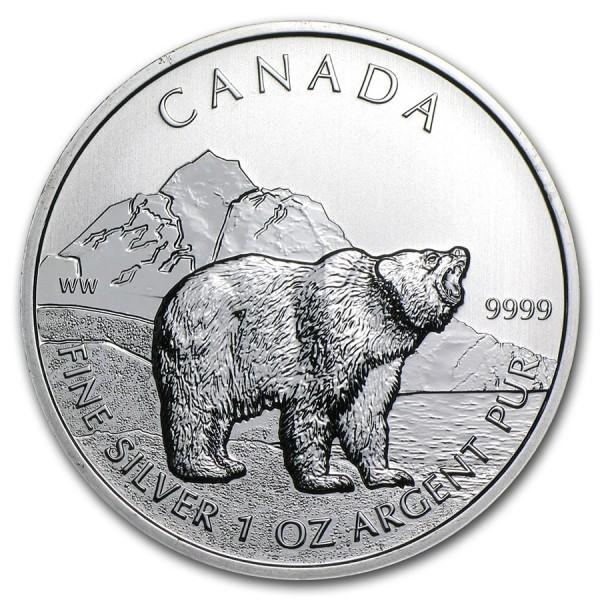 2011 1 Oz Canadian Grizzly Bear