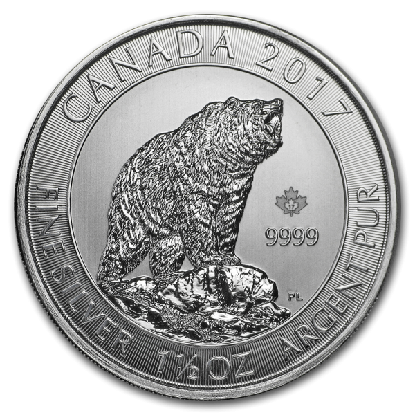 2017 1.5 Oz Canadian Grizzly Bear