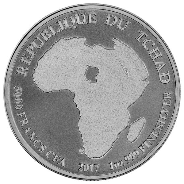 2017 1 Oz Republic Of Chad Lion