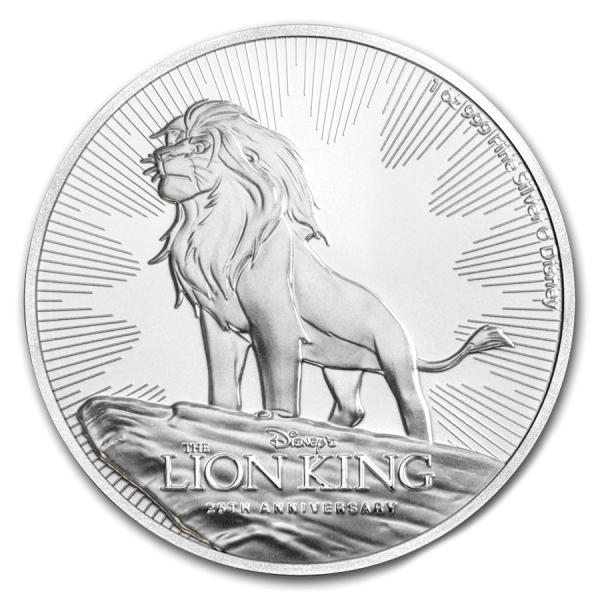 2019 1 Oz Niue Lion King 25th Anniversary