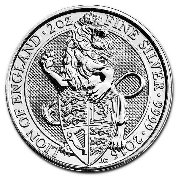 2016 2 Oz UK Queen's Beasts (The Lion)