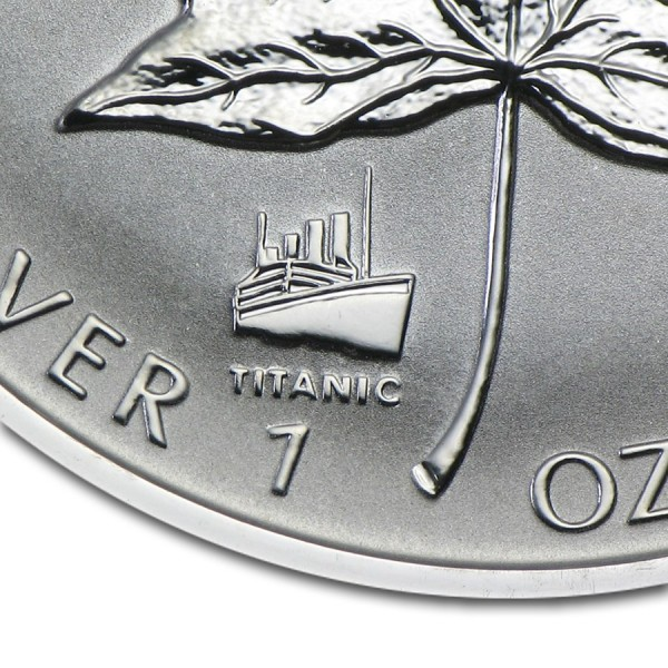 1998 1 Oz Maple Leaf Titanic Privy