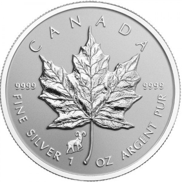 2015 1 Oz Reverse Proof Maple Leaf Sheep Privy
