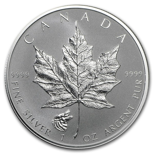 2016 1 Oz Reverse Proof Maple Leaf Wolf Privy