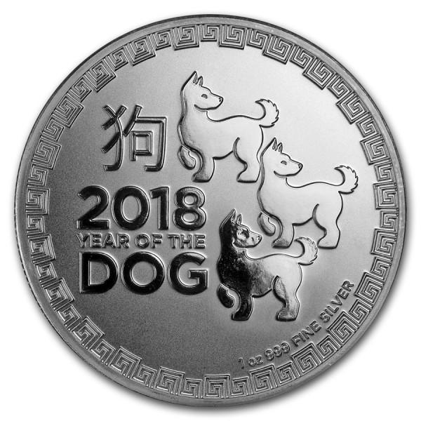 2018 1 Oz Niue Lunar Dog