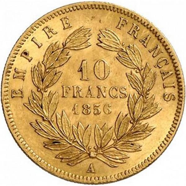 1856 10 Francs France Gold Coin