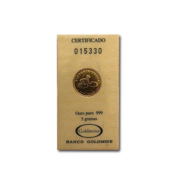 1992 5g Brazil Gold Victoria Regia (With COA)