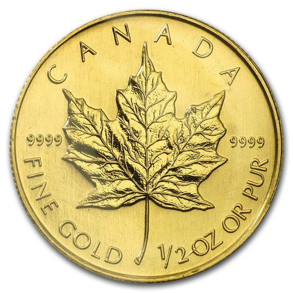 2002 1/2 Oz Canadian Gold Maple Leaf