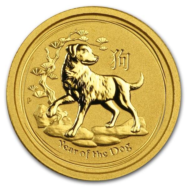 2018 1/20 Oz Gold Lunar Dog