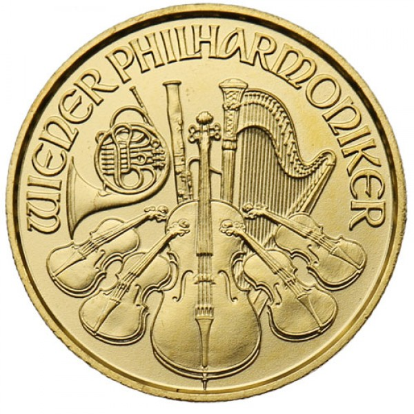 2018 1/25 Oz Austrian Gold Philharmonic