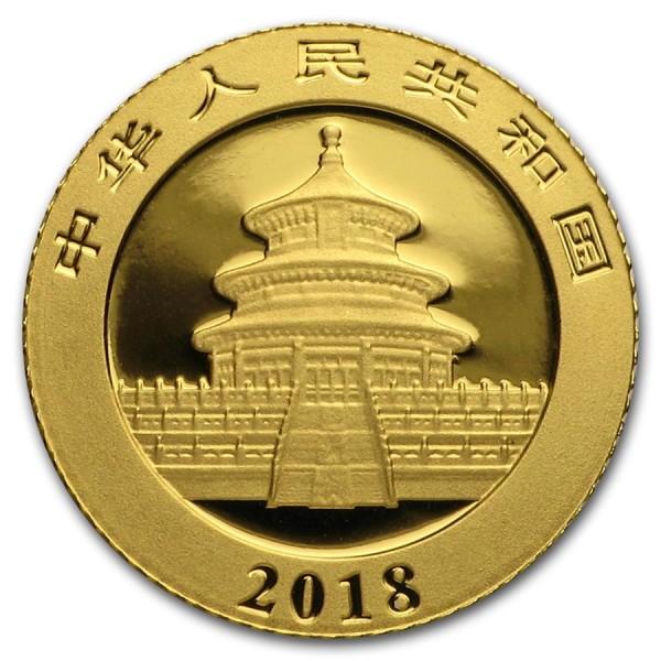 2018 1g Chinese Gold Panda