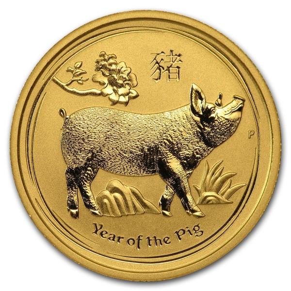 2019 1/4 Oz Australian Gold Lunar Pig