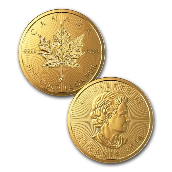 2016 8 x 1g Gold Maple Leaf (in Assay)