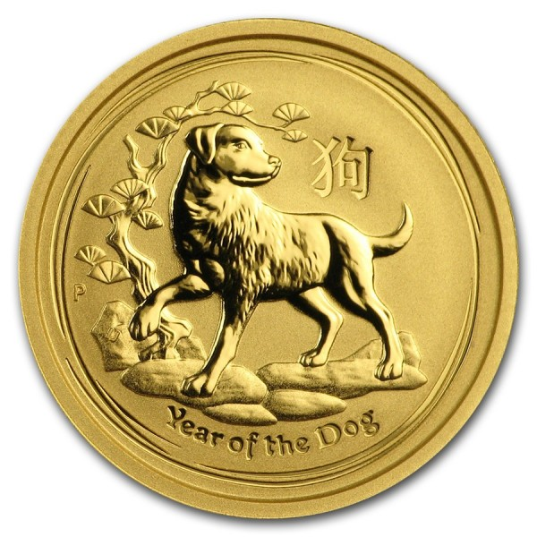 2018 1/10 Oz Australian Gold Lunar Dog